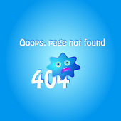 404 error page with blue character — Stock Vector