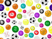 Sport balls seamless pattern — Stock Vector
