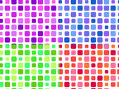 Seamless pattern composed of square blocks in different colors — Stock Vector