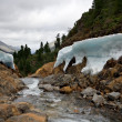 Stock Photo: Mountain river Shumak with ice on coastline