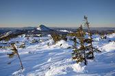 Winter landscape.Taiga,Ural mountains.Park Taganay. — Stock Photo