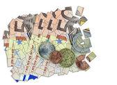 Euro-collage — Stockfoto