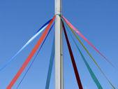 Maypole ribbons — Stock Photo