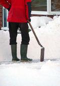 Limpieza de nieve — Foto de Stock