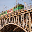 Stock Photo: Train on Bridge