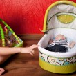 Baby Sleeping in a Stroller — Stock Photo #4122549