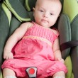 Stock Photo: Baby Girl in Car Seat