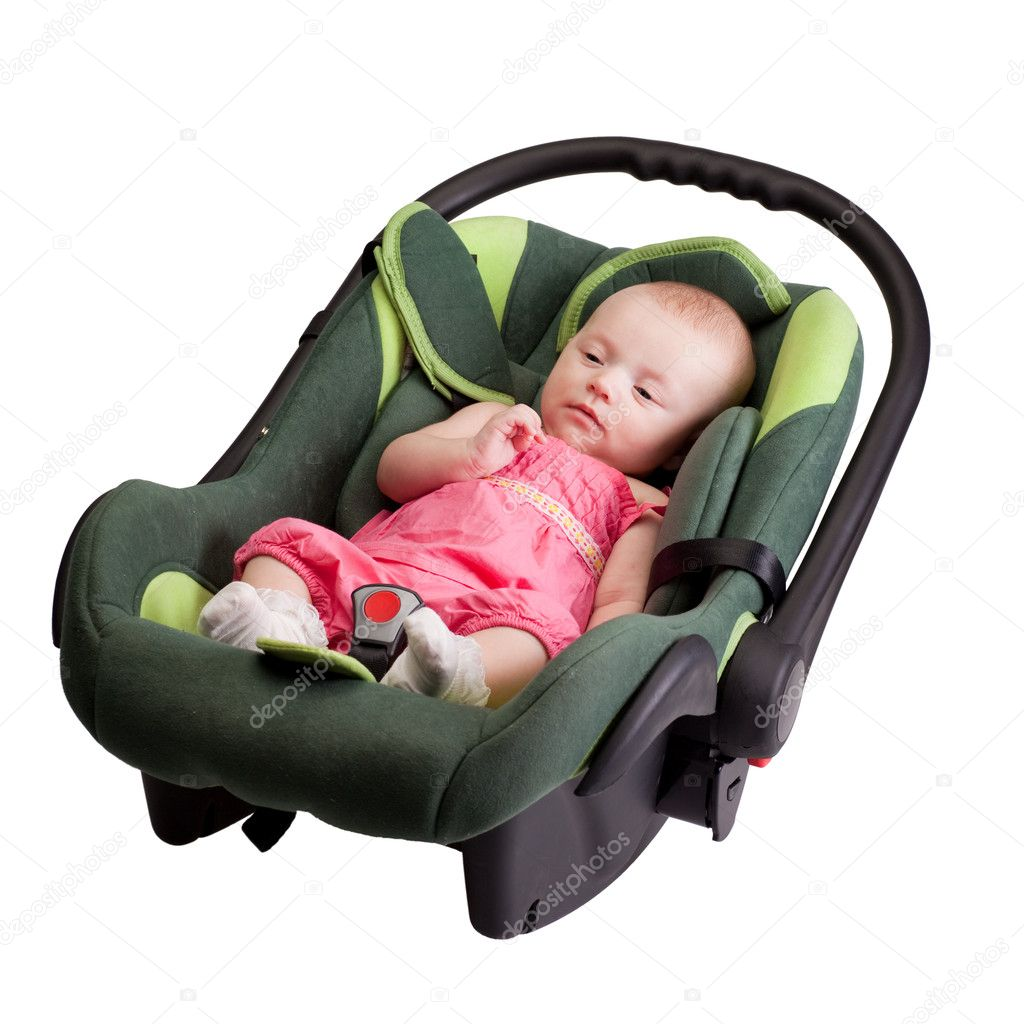 baby girl toddler in car seat stock photo rognar 4122228. Black Bedroom Furniture Sets. Home Design Ideas