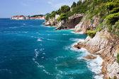 Adriatische zee kust — Stockfoto