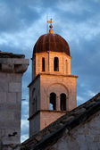 Franciscan Monastery Tower at Sunset — Stock Photo