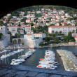 Dubrovnik Marina and City - Stock Photo