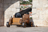 Cannon on the Wall — Stock Photo