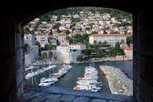 Dubrovnik Marina and City — Stock Photo