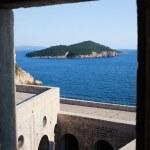 Lokrum Island from Fort Lovrijenac — Stock Photo #4361653