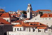 Dubrovnik'in eski şehir mimarisi — Stok fotoğraf