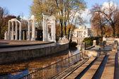 Lazienki Park in Warsaw — Stock Photo