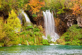 Waterfalls in Autumn Scenery — Stock Photo