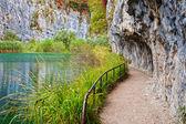 Path Along Mountain Lake — Stock Photo