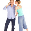 Casual Young Couple Communication — Stock Photo #4806845