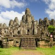 Bayon Temple in Cambodia - Stock Photo