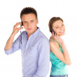 Students on the Phone — Stock Photo #5115592