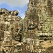 Buddha Carvings in Bayon Temple — Stock Photo