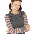 Young Woman with Arms Crossed — Stock Photo #5167725