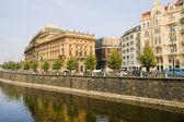 Prague Waterfront — Stock Photo