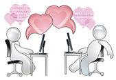 Virtual Love — Stock Photo
