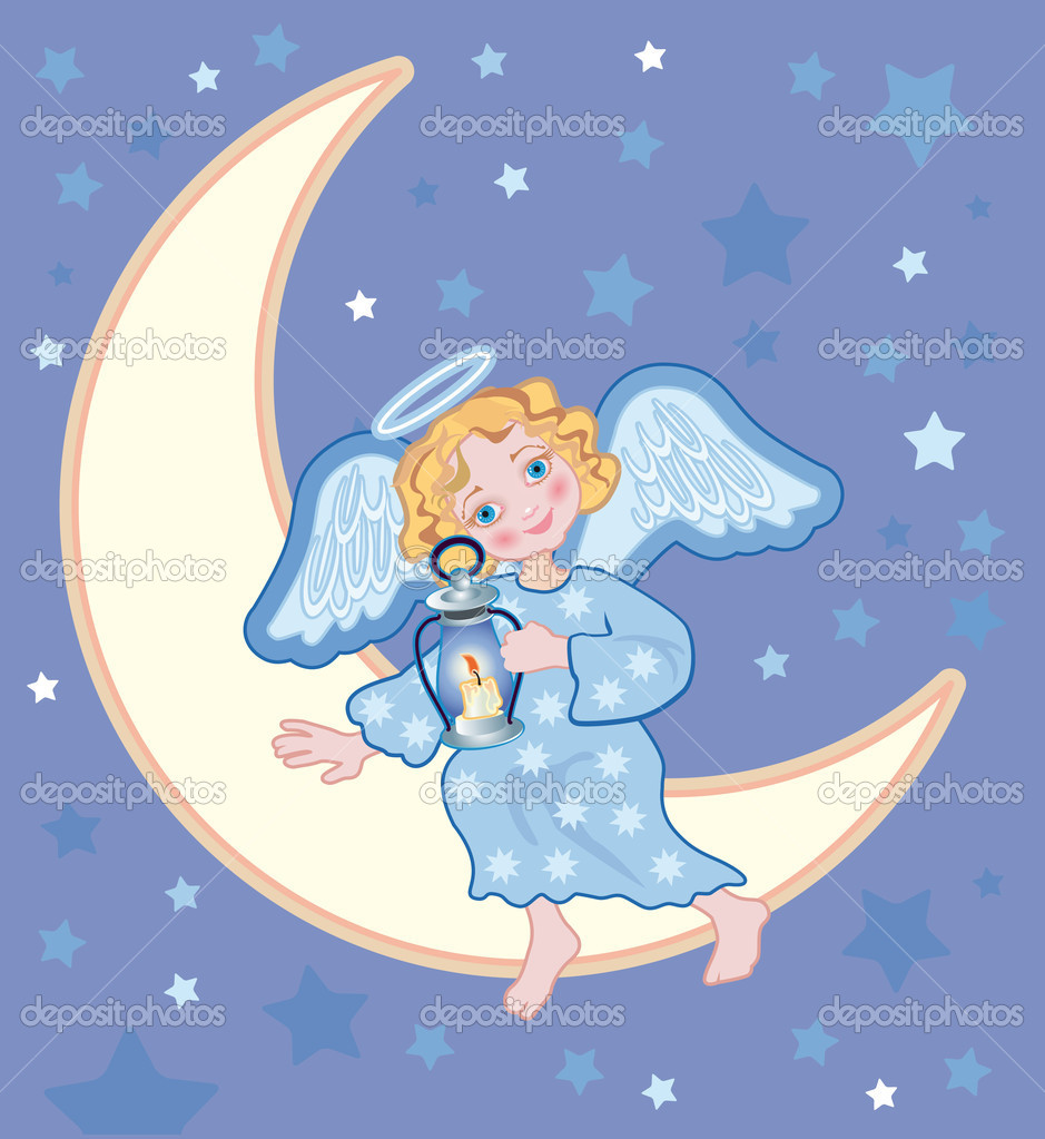 月亮图片卡通唯美简笔