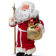 Father christmas with present - Stock Photo