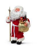 Father christmas with present — Stock Photo