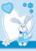 Sfondo per congratularsi con un coniglio — Vettoriale Stock