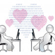 Virtual Love — Stock Photo