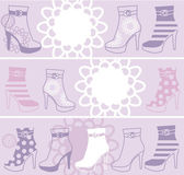 Fashionable womanish boots — Stock Vector
