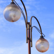 Modern glass street lantern — Stock Photo
