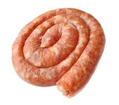 Raw sausage from the chicken stuffing — Stock Photo