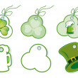 Patrick's day set of sales tags — Stock Vector