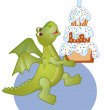 Birthday  draco - Stock Vector