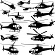 Helicopters — Stock Vector
