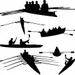 Stock Vector: Rowing collection