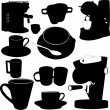 Stock vektor: Coffe set