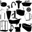 Set of bathroom - Stock Vector