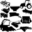 Stockvektor : Agricultural Machinery