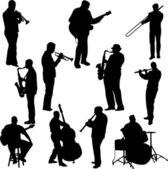 Músicos — Vector de stock