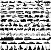 Coleção transporte — Vetor de Stock