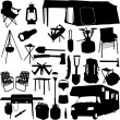Camping equipment — Stock Vector