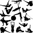 Pilates women - Image vectorielle