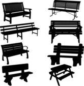 Bench silhouette — Stock Vector