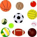 Balls sport — Stock Vector